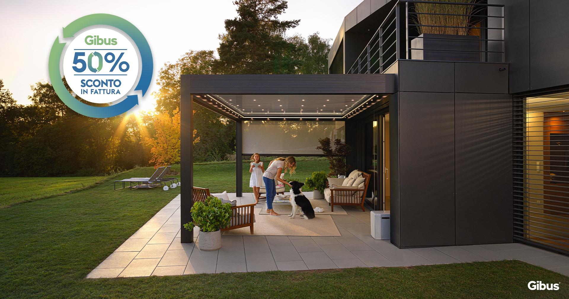 Pergola Gibus per la protezione solare